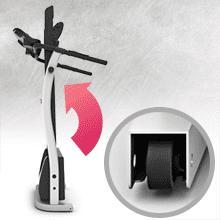 Tapis de Course Pliable Haute Vitesse, Bluefin Fitness KICK 2.0 Tapis de Course Pliable Haute Vitesse Innovant | Kinomap | Vidéo Streaming | Vidéo Coaching | Silencieux | 12 km/h + Inclinaison 18% | Protection des Articulations | HRC