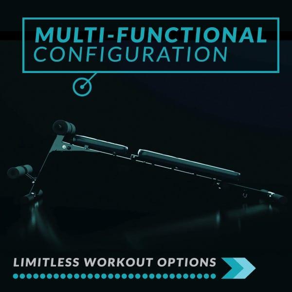 3D Vibration Plate, Banco de Musculación Plegable Multi-Funcional