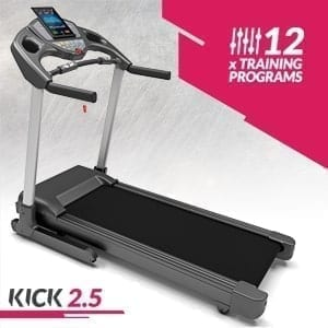 Opvouwbare Hogesnelheids Loopband, Bluefin Fitness KICK Innovatieve Opvouwbare Hogesnelheids Loopband | Stil | 20 km/u + 7 PK + 15% Helling | Gewrichtsbeschermingstechnologie | Kinomap | Live Video Streaming | Video Coaching & Training | Hartslagsensoren