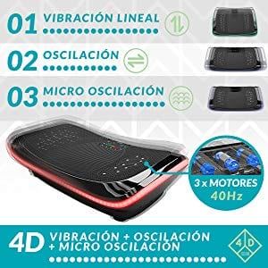 3D Vibration Plate, Plataforma Vibratoria de Triple Motor 4D