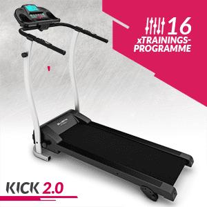 High-Speed Laufband, Bluefin Fitness KICK 2.0 Innovatives High-Speed Laufband, Klappbar   Kinomap App   Live Video Streaming   Video Coaching & Training   Leise   12 Km/h + 18% Steigung   Gelenkschutz   HRC Sensoren