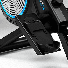 , Bluefin Fitness Blade Air Rowing Machine | Home Use Foldable | Dual Magnetic + Air Resistance Rower | Kinomap | Live Video Streaming | Video Coaching & Training | LCD Digital Console | Smartphone App