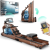 , Bluefin Fitness Blade Air Máquina de Remo | Plegable | Sistema Magnético Doble + Resistencia al Aire | Kinomap | Video Streaming en Directo | Video Entrenamiento y Ejercicios | Consola Digital LCD