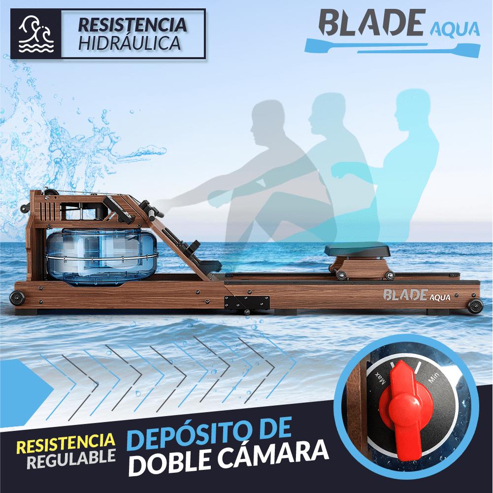 , Blade Aqua W-1 de Bluefin Fitness: Máquina de Remo de Resistencia Hidráulica fabricada en Fresno Americano 100% Sostenible. Un método tradicional para una máquina con todos los avances modernos