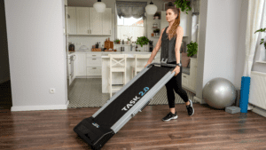 Bluefin home workout on your fold up treadmill