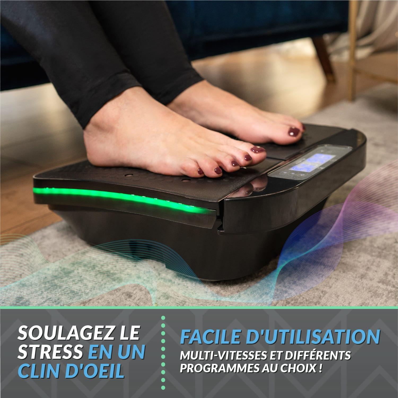 , Appareil de massage pieds Bluefin Fitness SUUV | Massage pied anti-douleur | Multi-vitesses & vibrations | Améliore la circulation | Télécommandé | Lutte contre les varices | Relaxation à la maison