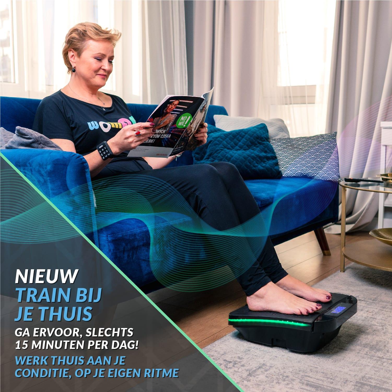 , Bluefin Fitness SUUV Voetmassage-apparaat | Pijnbestrijding | Meerdere snelheden & Vibratiemodi | Betere Bloedsomloop | Met Afstandsbediening | Voor Spataderen en Hielpijn | Train Thuis